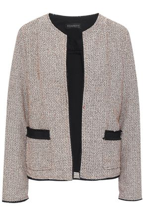 DONNA KARAN Ponte-paneled tweed jacket
