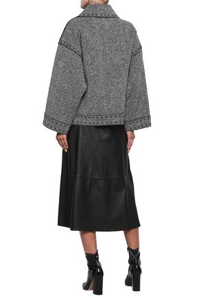 VALENTINO Studded wool-blend tweed jacket