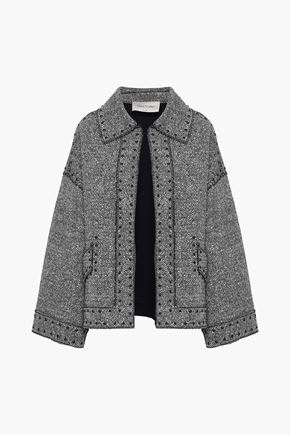 VALENTINO Studded wool-blend tweed jacket