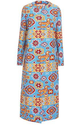 VALENTINO GARAVANI Metallic cotton-blend jacquard coat