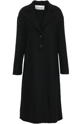 VALENTINO Pleated wool-blend felt coat