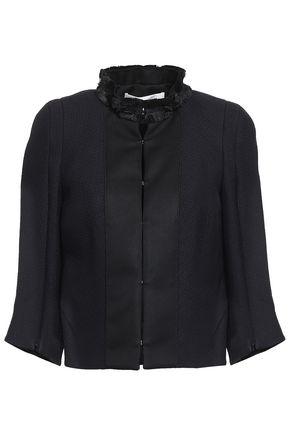 AMANDA WAKELEY Fringe-trimmed satin jacket