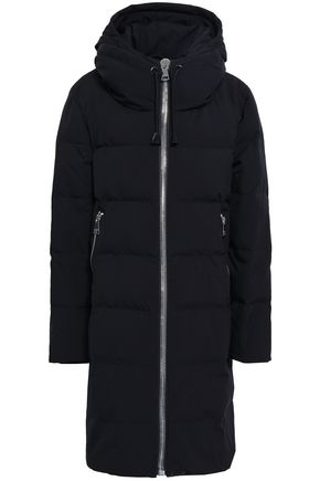 DKNY Shell hooded down coat