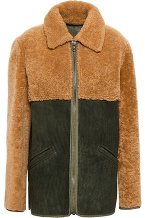 MR & MRS ITALY Paneled shearling jacket