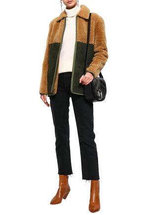MR & MRS ITALY Paneled shearling jacket