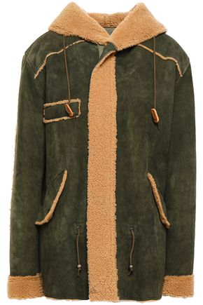 MR & MRS ITALY Shearling hooded jacket