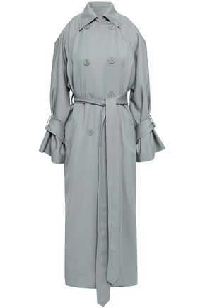 NINA RICCI Belted wool-twill trench coat