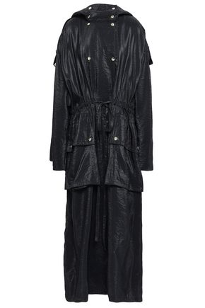 NINA RICCI Crinkled coated woven coat