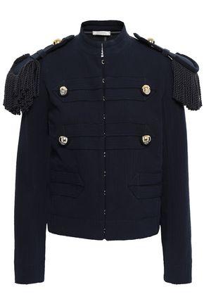 NINA RICCI Fringed cotton-blend jacket