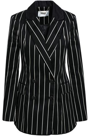 ZIMMERMANN Double-breasted striped cotton-blend twill blazer