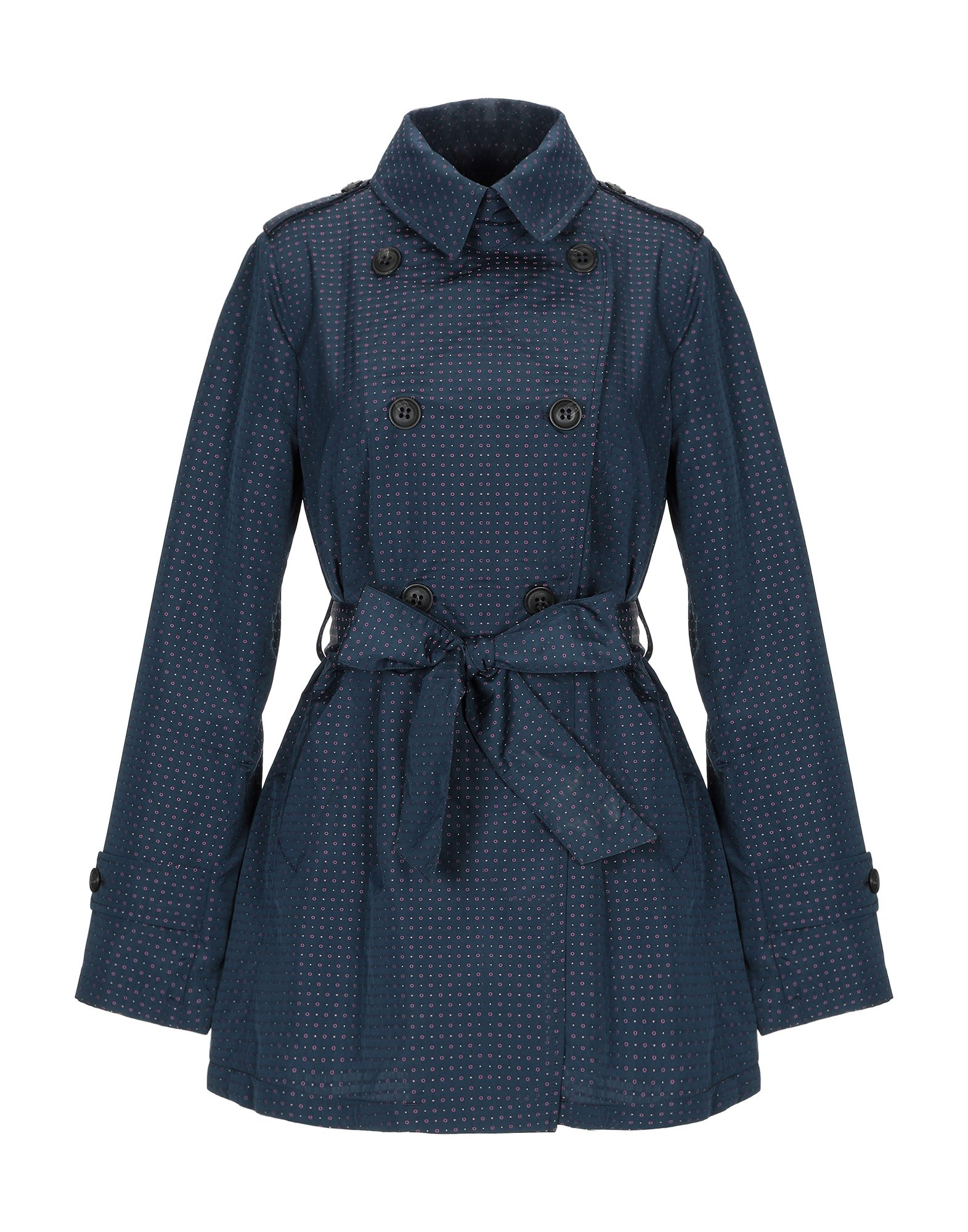 GEOSPIRIT Overcoats in Dark Blue
