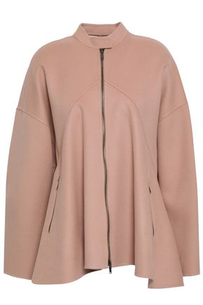 VALENTINO Pleated wool and cashmere-blend felt jacket