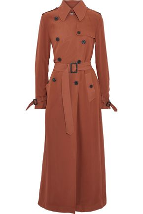 VALENTINO Washed-silk trench coat