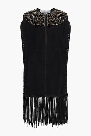VALENTINO Embellished suede vest