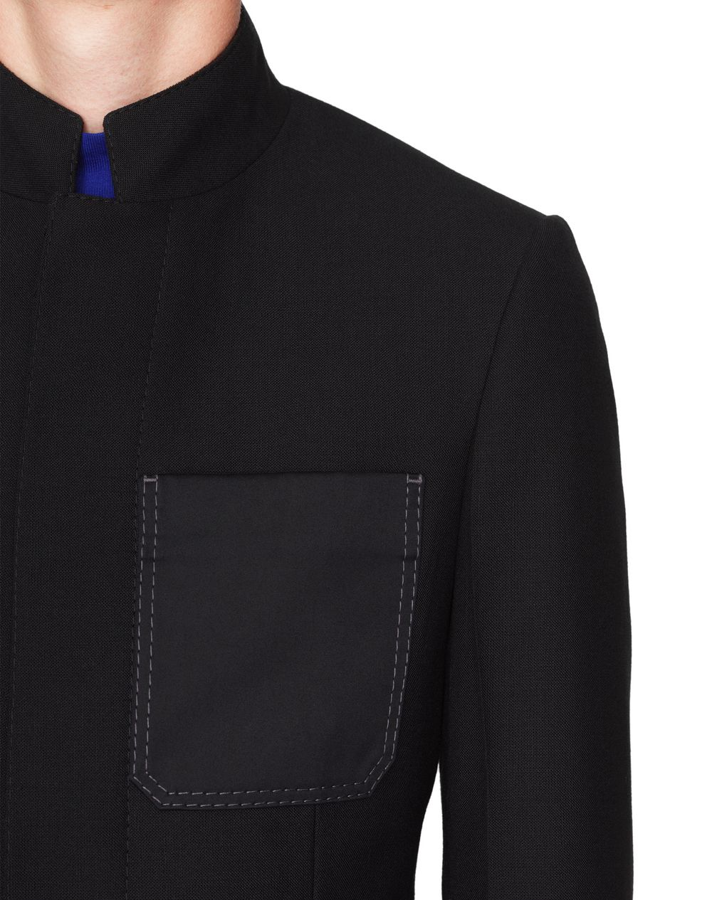BLACK MILITARY TAILORING JACKET    - Lanvin