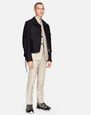 LANVIN Outerwear Man SHORT BLACK JACKET WITH LACING DETAILS    f