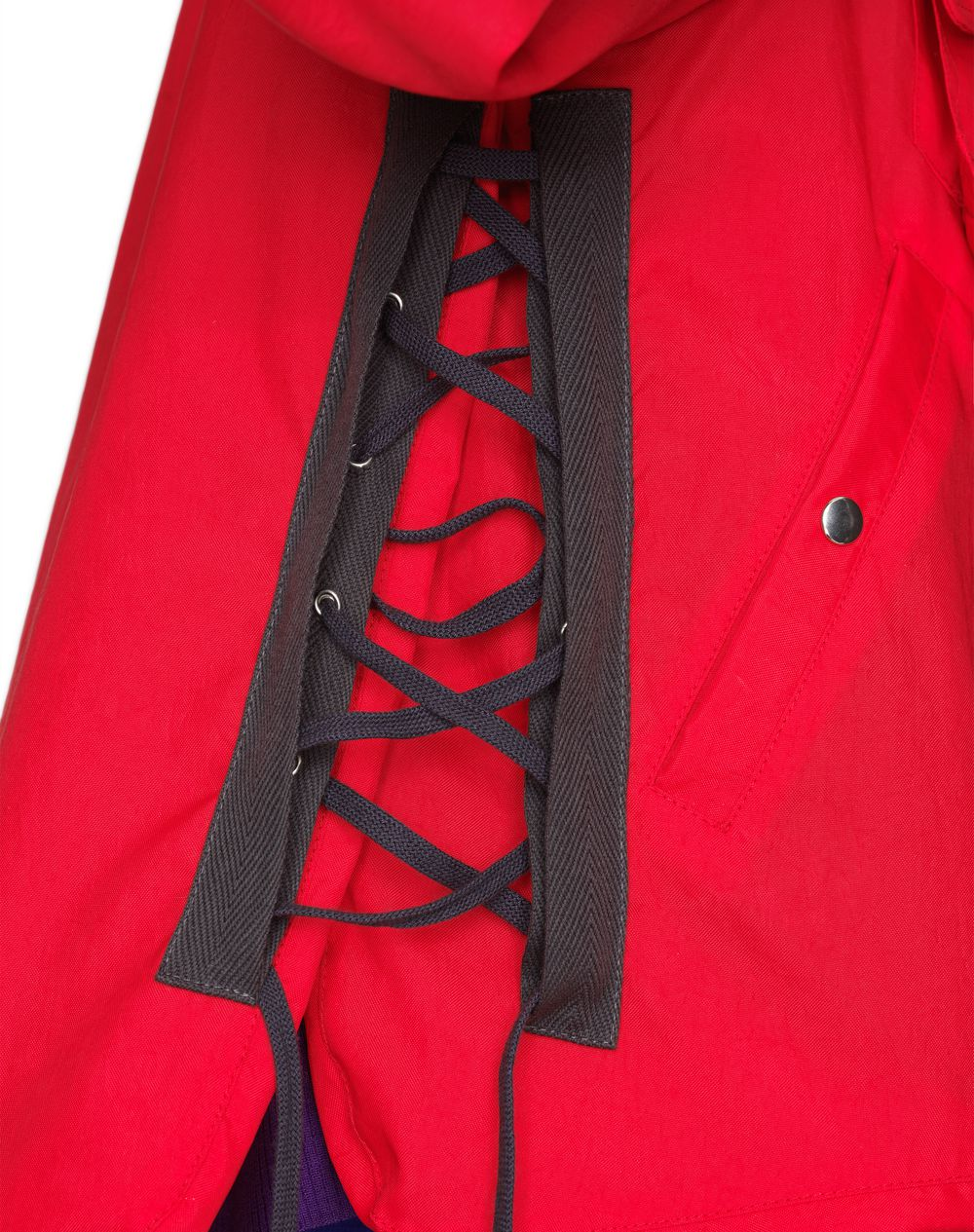 SHORT RED JACKET WITH LACING DETAILS   - Lanvin