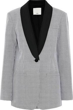 TIBI Houndstooth jacquard blazer