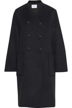 FRAME Double-breasted wool-felt coat