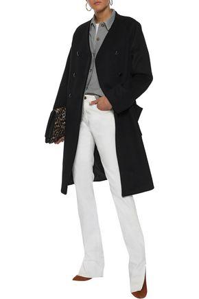 FRAME Double-breasted wool-felt coat