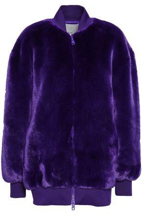 TIBI Faux fur bomber jacket