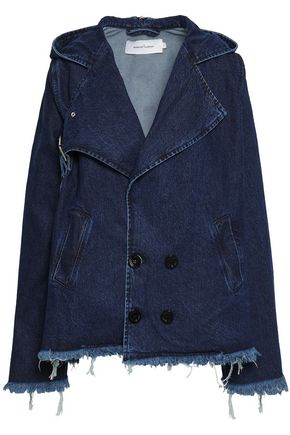 MARQUES' ALMEIDA Frayed denim hooded jacket
