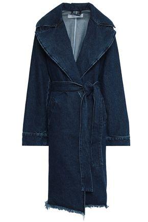 MARQUES' ALMEIDA Frayed denim trench coat