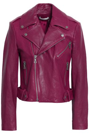 ALICE + OLIVIA Leather biker jacket