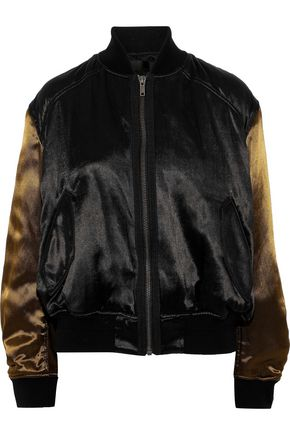 HAIDER ACKERMANN Two-tone satin bomber jacket