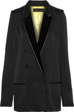 HAIDER ACKERMANN Double-breasted crepe-satin blazer