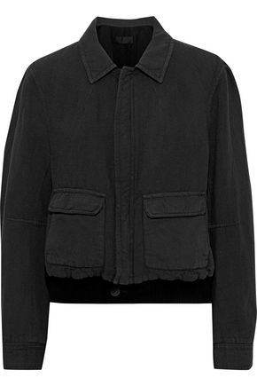 HAIDER ACKERMANN Cotton and linen-blend bomber jacket