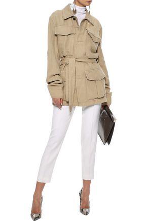 HAIDER ACKERMANN Belted cotton and linen-blend jacket