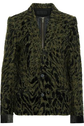 HAIDER ACKERMANN Layered satin-trimmed bouclé-tweed jacket