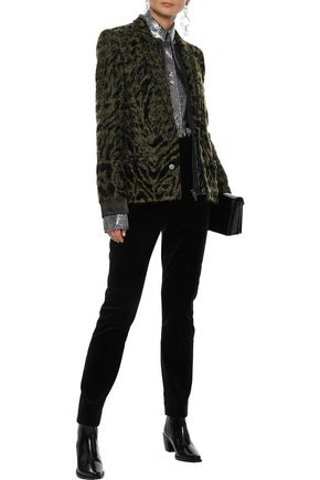 HAIDER ACKERMANN Layered satin-trimmed bouclé-tweed jacket