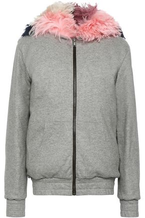 MR & MRS ITALY Wool-blend terry hooded jacket