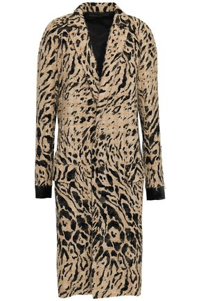 HAIDER ACKERMANN Flocked animal-print tweed coat