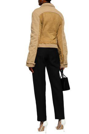 HAIDER ACKERMANN Frayed cotton-twill and canvas jacket