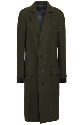 HAIDER ACKERMANN Satin-trimmed wool coat