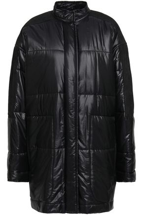 HAIDER ACKERMANN Suede-paneled shell coat