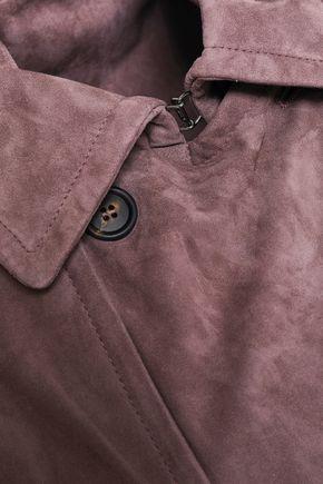 BRUNELLO CUCINELLI Double-breasted suede vest