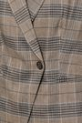 BRUNELLO CUCINELLI Checked linen-blend blazer