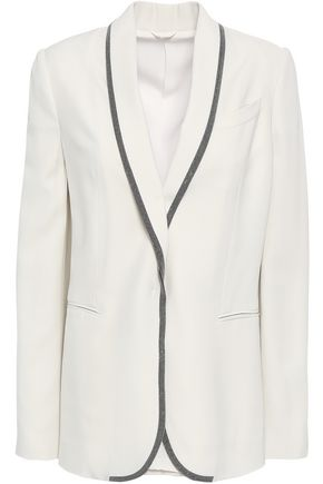 BRUNELLO CUCINELLI Bead-embellished crepe blazer