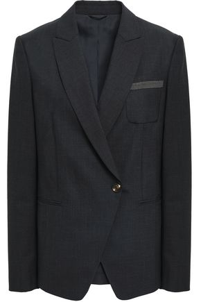 BRUNELLO CUCINELLI Double-breasted wool-blend blazer
