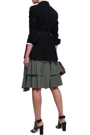 BRUNELLO CUCINELLI Bead-embellished herringbone cotton and linen-blend blazer