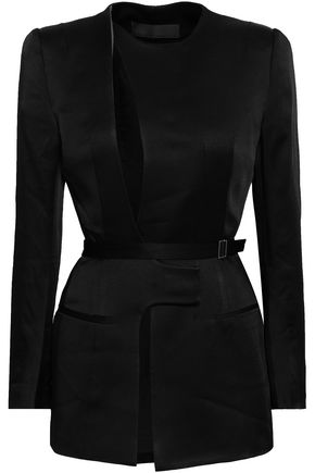 HAIDER ACKERMANN Cutout crepe-satin jacket