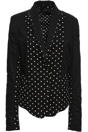 HAIDER ACKERMANN Polka-dot cotton-jersey, twill and poplin blazer