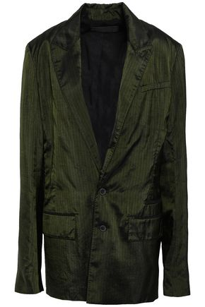 HAIDER ACKERMANN Pinstriped satin blazer