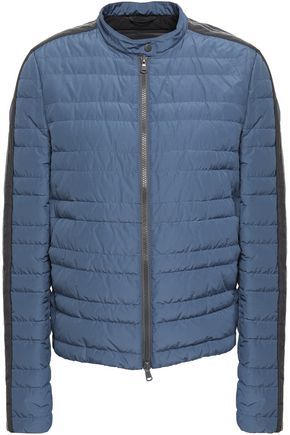 BRUNELLO CUCINELLI Bead-embellished quilted shell down jacket