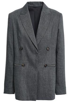 BRUNELLO CUCINELLI Linen and wool-blend blazer