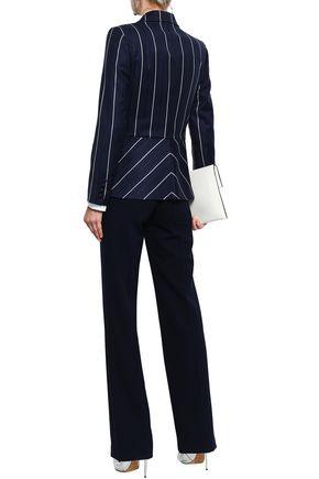 OSCAR DE LA RENTA Striped wool-blend blazer